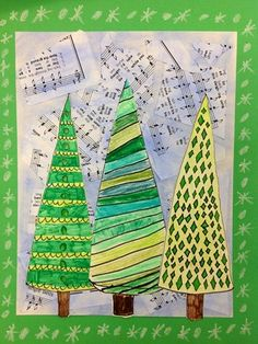 grandson's 2nd grade project - I love these trees!!