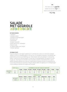 salade met gegrilde aubergine