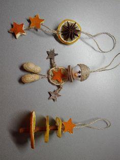 Vánoční ozdoby - sušené ovoce Christmas Time, Christmas Crafts, Christmas Decorations, Autumn Activities, Room Decor Bedroom, Advent, Nativity, Crochet Earrings, Drop Earrings