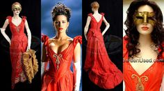 Costume of the Day: Anna's Red Ball Gown from Van Helsing  Designer - Gabriella Pescucci.  www.facebook.com/TheLiteraryHeroines
