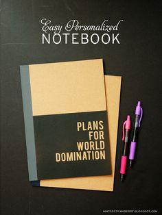 Make a Custom Notebook! Easy instructions @mintedstrawberry.blogspot.com #backtoschool #notebookcraft #personalized #DIYnotebook