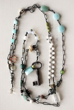 antique key necklace | The Tres Chic