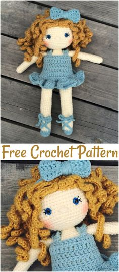 toy design Free Crochet Doll Pattern- The Friendly Grace. Beautiful crochet doll, complete with dress, slippers, and bow. With complete doll tutorials you can create the perfect doll for your little ballerina. Crochet Doll Dress, Crochet Doll Clothes, Crochet Dresses, Crochet Dolls Free Patterns, Crochet Designs, Crochet Patterns Amigurumi, Amigurumi Doll, Crochet Gifts, Crochet Toys