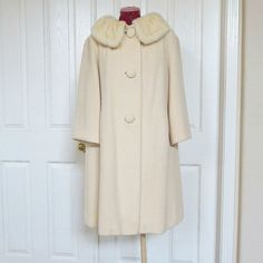 Vintage 1950s Jackie Kennedy Style Forstmann Fur Collar Short Coat by MyVintageJewels, $86.00