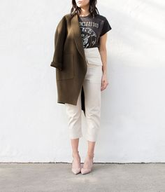Isabel Marant   high waisted cotton drop crotch pant in ecru