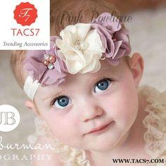 1092c2a21b2ae Kids Hair Accessories. Newborn Babys kids 3Flowers Headband ...