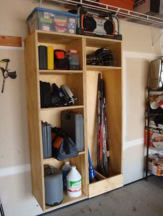 """One sheet of plywood is all you need to build a customizable 60"""" X 18"""" garage storage locker."""