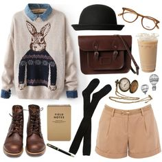 A fashion look from May 2013 featuring short shorts, long socks e brown boots. Browse and shop related looks.