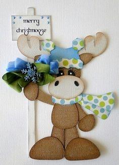 Merry Christmoose Paper Piecing Pre Made Scrapbooking Christmas Paper, Christmas Crafts, Christmas Decorations, Christmas Ornaments, Merry Christmas, Paper Punch Art, Punch Art Cards, Xmas Cards, Paper Piecing