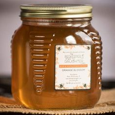 """We like to call this raw Florida Orange Blossom honey """"Liquid Gold"""" to keep in your pantry! Order Raw Orange Blossom Honey by the Beekeeper's Daughter today! Make Bbq Sauce, Orange Blossom Honey, Florida Oranges, Elegant Desserts, Milk And Cheese, Chocolate Candy Molds, Bourbon Barrel, Raw Honey, Decorating Tools"""