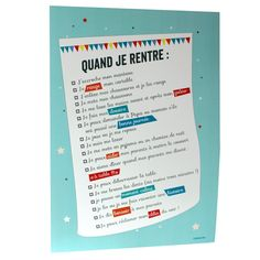 POSTER REGLES VIE - à cause de toi ! Montessori Education, Kids Education, Education Positive, Positive Attitude, Pediatrics, Kids And Parenting, Routine, Infographic, Positivity