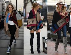 Cara Delevingne, Olivia Palermo, and Rosie Huntington-Whiteley Are All Wrapped in Fall's Boho Blanket – Vogue