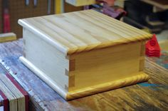 Dovetail Box with Hinged Lid ….. built and photographed by John Moore.