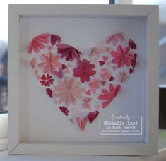 Heart Frame using the Heart to Heart Punch from Stampin' Up! Valentine Day Love, Valentines Day Party, Valentine Ideas, Sewing Crafts, Diy Crafts, Heart Template, Perfect Mother's Day Gift, Heart Frame, Paper Hearts