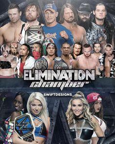 ELIMINATION Chamber Poster 2017 Heath Slater, Wwe Ppv, Baron Corbin, Nxt Takeover, Bray Wyatt, Survivor Series, Wwe World, Nikki Bella, Aj Styles