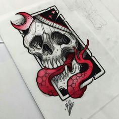 Skull Tattoos, Black Tattoos, Tattoo Sketches, Tattoo Drawings, Tatuajes New School, Blackwork, Simpsons Tattoo, Skull Reference, Weird Drawings