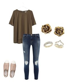 """""""About to go eat☺️"""" by brisabella ❤ liked on Polyvore featuring beauty, Madewell, J Brand, FitFlop, Tiffany & Co. and Topshop"""