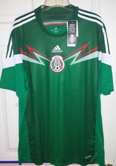 b696b35c1 Adidas Mexico National Team World Cup Soccer Jersey Mens M NWT Green  Mexicana