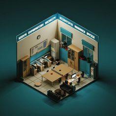 MagicaVoxel : 用它做纪念碑谷的场景,就像堆积木一样简单 #Mac #Windows Isometric Art, Isometric Design, Environment Concept Art, Environment Design, 3d Design, Game Design, Voxel Games, Cube World, Image 3d