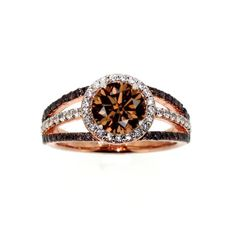 1 Carat Chocolate Color Brown Diamond Floating by MondiJewelry, $2450.00