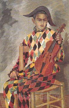 Gino Severini - Arlecchino con violino