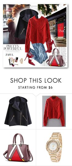 """""""Knit Sweater"""" by merylicious91 ❤ liked on Polyvore featuring J.Crew and zaful"""