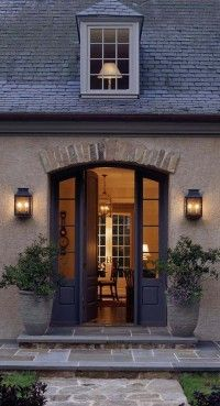 facades   entries. Beautiful rent entry arched wooden doors