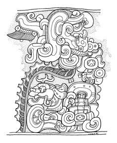 Viking Symbols, Viking Runes, Ancient Symbols, Ancient Art, Egyptian Symbols, Mayan Glyphs, Aztec Tattoos Sleeve, Aztec Warrior, Inka