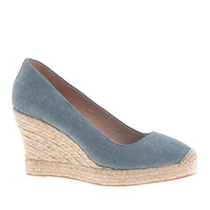 Seville chambray espadrilles - wedges - Women's shoes - J.Crew