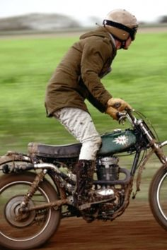 Winter Coat. Motorcycle Vintage.