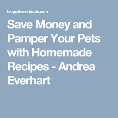 Save Money and Pamper Your Pets with Homemade Recipes - Andrea Everhart