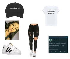 """""""Mood of the day"""" by amariaprice ❤ liked on Polyvore featuring adidas"""