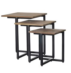 The D-Bodhi Set of 3 Side Tables from LH Imports is a unique home decor item. LH Imports Site carries a variety of D-Bodhi items.