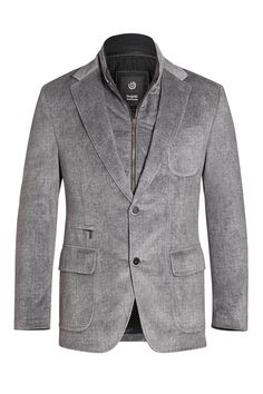 #TuesdayTreasure | Grey sports jacket with elbow-patches and removable zipper part #bugattifashion #menswear #jackets