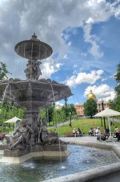 Boston Common and Massachusetts State House