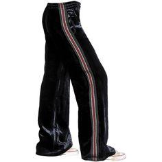 Faith Connexion Women Silk Blend Velvet Jogging Pants (7,680 MXN) ❤ liked on Polyvore featuring pants, bottoms, navy, navy blue trousers, jogger pants, navy trousers, velvet trousers and velvet pants