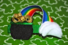 St. Patrick's Day Rainbow and Pot of Gold Ribbon Sculpture. $3.50, via Etsy.