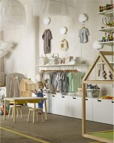 For your business - Office, Retail & more - IKEA - Arredamento - . - Ikea DIY - The best IKEA hacks all in one place Clothing Store Interior, Clothing Store Design, Boutique Interior, Baby Shop, Baby Store Display, Retail Store Design, Baby Boutique, Stores, Baby Clothes Shops