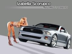 Sexy model in not much clothing, leaning over new model Ford Mustang. Pagani Zonda, Mustang Old, Ford Mustang, Christina Aguilera, Petite Blonde, Automobile, Bodybuilding, Cool Girl, Vehicles