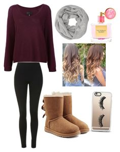 """""""For fall"""" by autumspring7 ❤ liked on Polyvore featuring Topshop, Nili Lotan, UGG, Victoria's Secret, John Lewis and Casetify"""