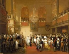 Wedding of Leopoldo I of Belgium and Marie Lousie of Orleans, at the Compiégne Palace chapel (France). / Matrimonio de Leopoldo I de Bélgica y María Luisa de Orleanas, en la capilla del Palacio de Compiégne (Francia).