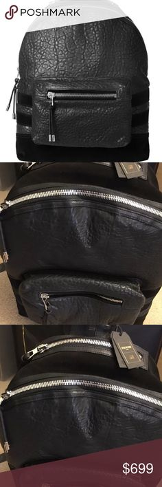 NWT balmain x h&m backpack Takes a week to ship Up For Sale: BALMAIN x H&M LEATHER BACKPACK 2015 Super Limited Release  Colourway: Black Balmain Bags Backpacks