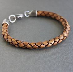 Mens Triple Wrap Bracelet tresse de cuir par LynnToddDesigns 9e61d0fbe88
