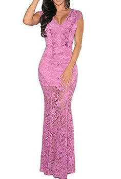 Zkess Women's Short Sleeves Prom Ball Evening Gowns Lace Long Dress One Size Pink Zkess http://www.amazon.com/dp/B00TGOF30S/ref=cm_sw_r_pi_dp_xqUsvb1GZ1F93