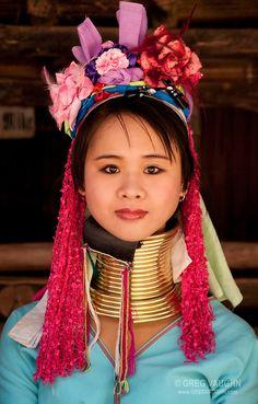 Young woman of the Karen hill tribes at Baan Tong Luang, a village of Hmong.