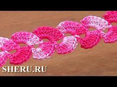 How To Make Crochet 2-Side Cord Урок 8 Вязание крючком