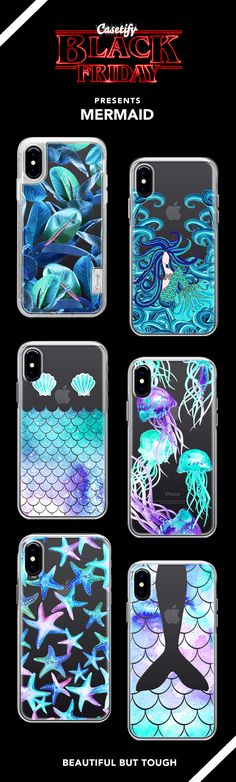 Black Friday Special:  Most Wanted Mermaid iPhone X, iPhone 8, iPhone 8 plus, iPhone 7, iPhone 7 Plus case. - Shop them here ☝️☝️☝️ BEAUTIFUL BUT TOUGH ✨  - fashion, illustrators, water, teal, blue, illustrations, fashionista