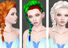 The Sims 3 Custom Content Female Hair Downloads
