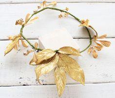 Maternity Crown, Wedding Gold  Crown, Bride Headpiece, Boho Wreath, Vintage Wreath, Hair Piece,Gold Headpiece,Adult Flower Crown,Gold Wreath by ZorayaBabyProps on Etsy