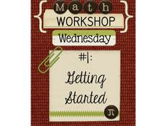 Workshop Wednesday #